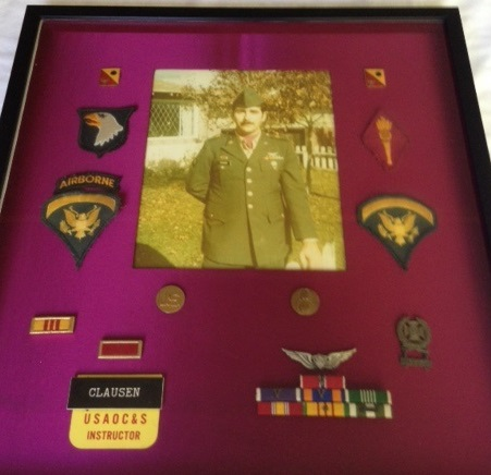 Roger full photo of military patches ribbons pins